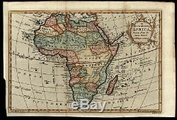 Africa Vaugondy c. 1766 charming decorative old map lovely example