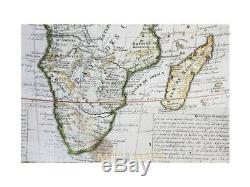 Africa old map Nouvelle Carte d'Afrique by Chatelain 1719