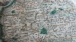 Antique 17th century Africa Map 1652 FIRST EDITION English Atlas Engraving
