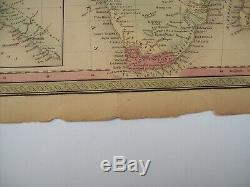 Antique 1854 MITCHELL MAP AFRICA # 71 Authentic Plate Print hand tinted