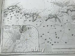 Antique Admiralty Chart 252 Cape Bougaroni to Fratelli Rocks 1871 Edition