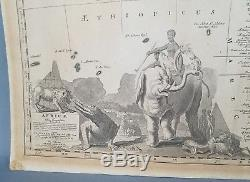 Antique Africa Map Colored Circa 1700 Copper Engraving A. F. Zürner Schenk P