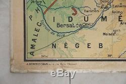 Antique French Map. Ancient Egypt/Palestine. 1mx1x20cm. Vidal La Blache interest