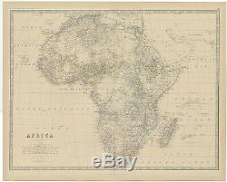 Antique Map of Africa by Johnston (1882)