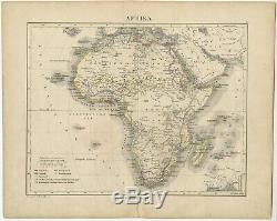 Antique Map of Africa by Petri (c. 1873)