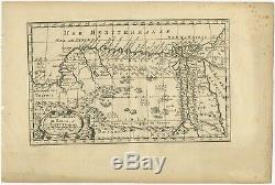 Antique Map of Egypt and Eastern Libya by De Winter (c. 1680)