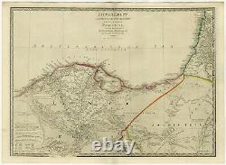 Antique Map of Egypt and the Nile Delta by Wyld (1854)