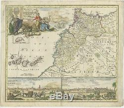 Antique Map of Morocco by Homann (1728)