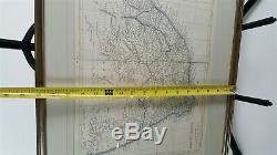 Antique Map of South Africa J W Lowry Chapman and Hall, England