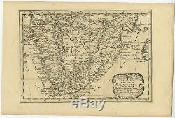 Antique Map of South Africa by De Winter (c. 1680)