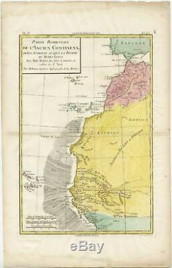 Antique Map of the Coast of Northwest Africa by Dien (1820)