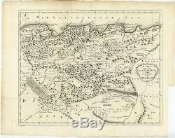 Antique Map of the Eastern region of the Kingdom of Algiers by Shaw (1773)