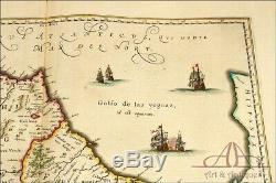 Antique Map of the Reign of Morocco and Fez. Netherlands, Circa 1641