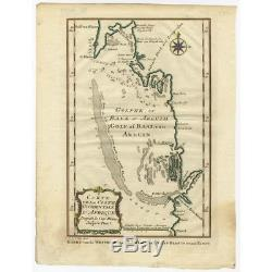 Antique Map of the West Coast of Africa by Van Schley (c. 1760)