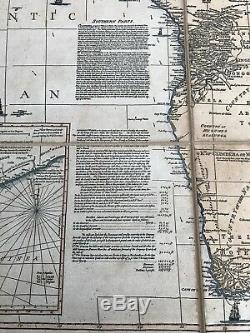 Antique Replica 1787 Boulton Sayer Wall Map Africa oversize backed with linen