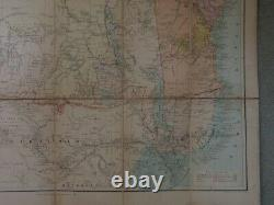 Antique cased folding map Central Africa by Edward Stanford 1889