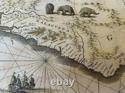 Antique map of Guinea c. 1635 by Willem Blaeu Nigeria, Ghana and West Africa