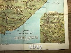 BIRDS EYE VIEW OF SOUTH AFRICA (BACON'S No8) MAP