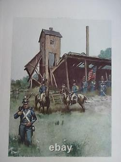 Beautiful Antique Print-INFANTRY AND GENERAL OFFICERS, 1813-1821 (c)1892 by G. B