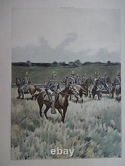 Beautiful Antique Print TROOPERS MOUNTED, 1889 (c)1892 by G. B