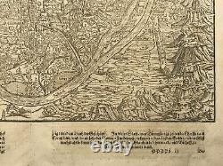 CAIRO EGYPT 1628 XVIIe SIECLE COSMOGRAPHY SEBASTIAN MUNSTER LARGE ANTIQUE VIEW