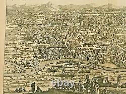 Cairo Egypt 1677 Dapper Large Unusual Antique Engraved View 17th Century