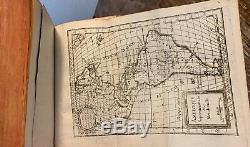 Chine 1765 Antique Book GEOGRAPHY 6 MAPS China Worldwide Asia Africa America