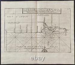 Churchill Map of Calbar River, Part of Africa. 171, 1744 Travels Engraving
