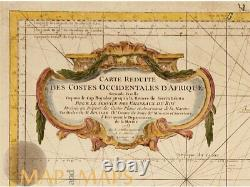 Costes Occidentales d'Afrique Large map Africa coast by Bellin 1745 MAPandMAPs