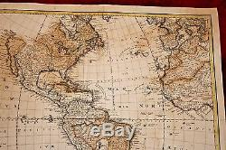 Early Hand Colored Map of America, South America & Africa