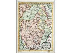 East Africa, Part of Upper Ethiopia and Nubia, Sanson map 1656