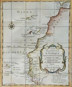 East-, West- and South Africa, coast of Africa, J Bellin, 1746, set of five maps