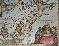 East and Central Africa, Kingdom of Prester John, map by Dapper/Van Meurs, 1668