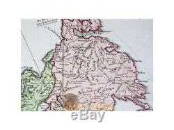 Europe Africa Asia Old World continents map Vaugondy 1749