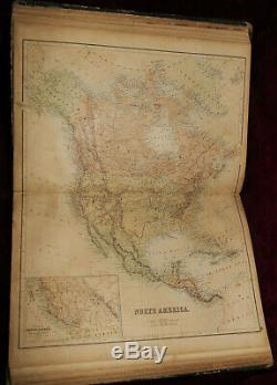 ExRare 1860 HUGE WORLD ATLAS RARE MAPS WESTERN STATES USA AMERICA AFRICA ASIA+++