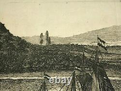Fort Tacaray Ghana 1677 Dapper Large Antique Engraved View 17th Century
