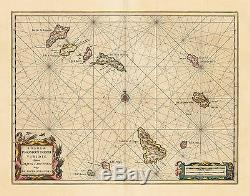 HJB-Antique Maps Cape Verde Islands off West Africa By Jansson Date 1650 (c)