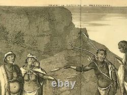 Hottentots South Africa 1677 Dapper Unusual Large Antique View 17th Century