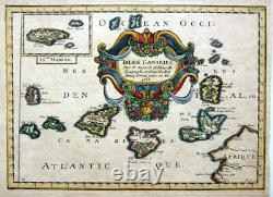 ISLES CANARIES CANARY ISLANDS c1656 BY NICOLAS SANSON GENUINE ANTIQUE MAP