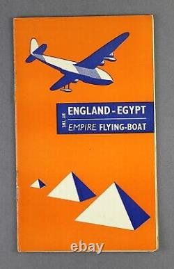 Imperial Airways England Egypt Inflight Route Map By The Empire Flying Boat