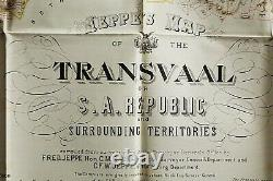 Jeppe's Map of the TRANSVAAL S. A. Republic and Surrounding Territories