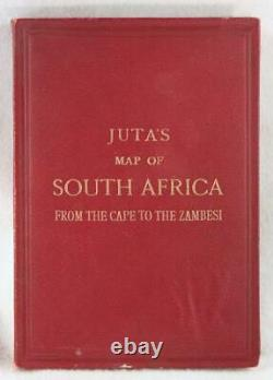 Juta's Map of South Africa from the Cape to the Zambesi 1894 with Cover