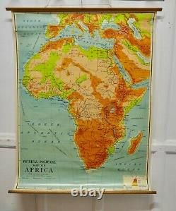 Large University Chart Africa Physical Political by Bacon