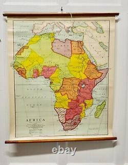 Large University Chart Africa Physical by Bacon