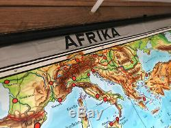 Large vintage map of Africa