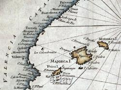 MEDITERRANEAN SEA CHART, Italy, Spain, Greece, Africa, R. W. Seale antique map 1745