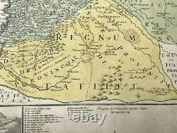 MOROCCO CANARIAN ISLANDS JB HOMANN 1728 LARGE ANTIQUE ENGRAVED MAP 18e CENTURY