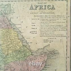 Map of Africa, 1850