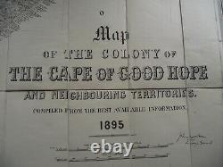 Map of The Colony of The Cape of Good Hope Stanford London 1895