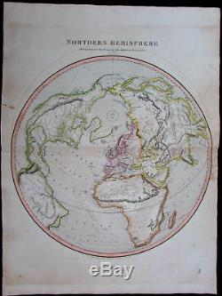 Northern Hemisphere Asia Africa Mts. Of Moon 1816 Thomson large antique map